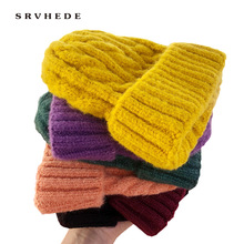 Women Beanies Girl Luxury winter hat Candy Colors Hats Thick Warm Bonnet Beanie Soft Knitted Beanies Cotton Twist Pattern Caps 9 women new design caps twist pattern women winter hat knitted sweater fashion hats 6 colors y1