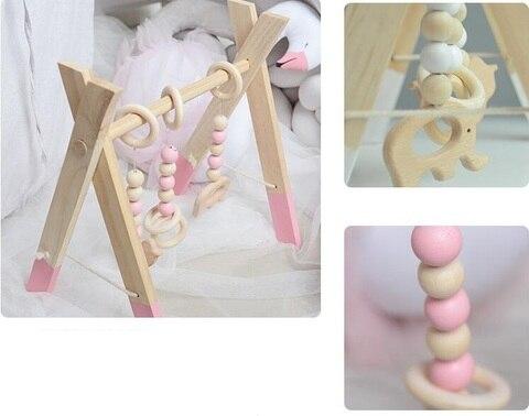 jogar ginasio brinquedo de madeira bercario sensorial