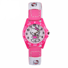 Cute Pink Simple Watches Girl Lovely Cartoon Watch Kids Chil
