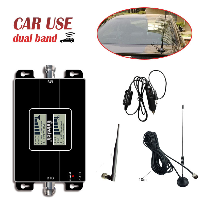 Lintratek Car Use 2G GSM 900 4g 1800mhz 3G 2100MHz 850 1900 Mobile Phone Signal Booster Signal Amplifier Cellphone Repeater S4