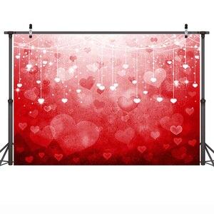 Image 3 - 발렌타인 데이 사진 배경 로맨틱 장면 웨딩 사진 배경 꽃 레드 로즈 하트 사랑 Photocall Photophone