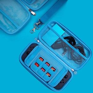 Image 4 - Funda de goma EVA portátil para Nintendo Switch, funda rígida, bolsa de transporte, bolsos cruzados, accesorios de almacenamiento