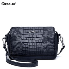 HOT ZOOLER Brand genuine Leather Bag pattern Mini Designer woman leather bag Crossbody Shoulder Bags Small Tote purses#wg200