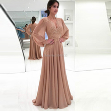 2020 New Long Sleeves Chiffon Mother of the Bride D
