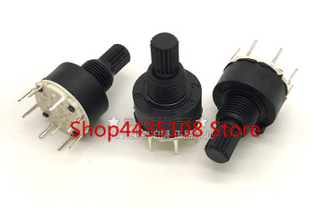 1PCS for SR16 series Environmentally friendly plastic 16MM rotary switch 15MM flower axis band switch image