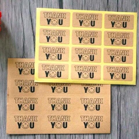 1200 pcs lote papel kraft uppercase obrigado