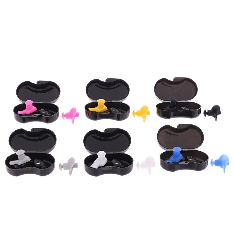 1 par de tapones de oídos para natación impermeables, suaves tapones de silicona para los oídos, protección para los oídos, tapones de música reutilizables, reducción de ruido para el sueño