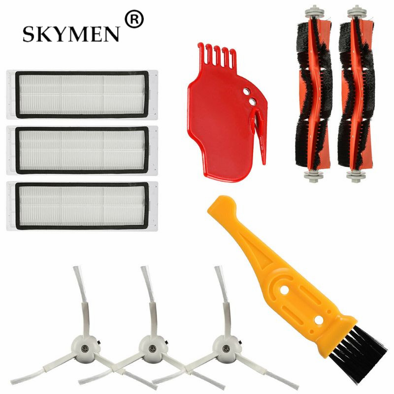 10PCS/Set Main Brushes Side Brush Filter for Xiao-mi Mi Robot Vacuum Cleaner Cleaning Tools Accessories Parts