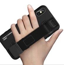 AiSmart خزائن هاتف آيفون 11 11pro 11pro ماكس حافظة تي بي يو مقاومة للأوساخ مضادة للخبط مزودة كابل يو اس بي للبرق