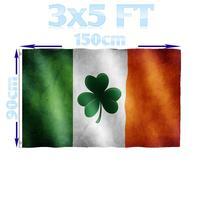 Магазин BENFACTORY 3x5 футов символ удачи в виде клевера значок ирландского флага однослойный polyester полиэстер Крытый Открытый