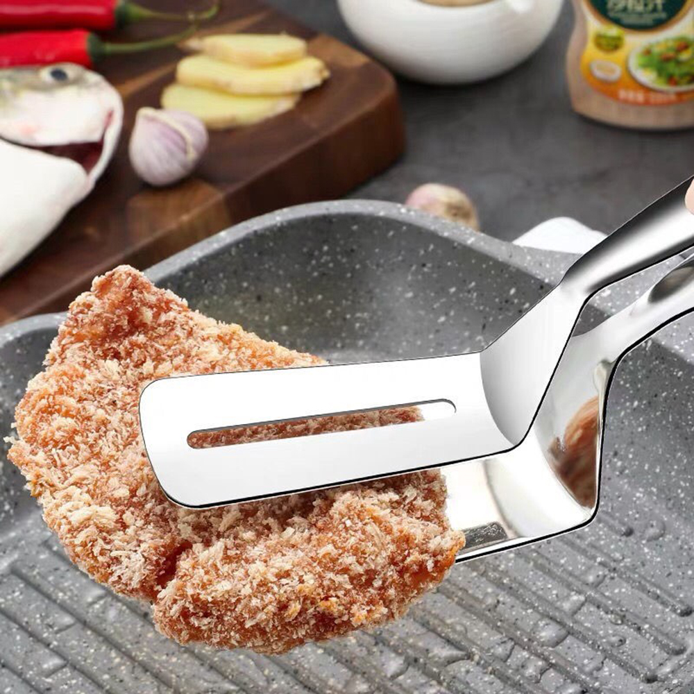 Frying Fish Shovel Kitchen Stainless Steel Frying Shovel Clip Fried Fish Steak Shovel Home Pancakes Frying Fish Shovel Fork Tool