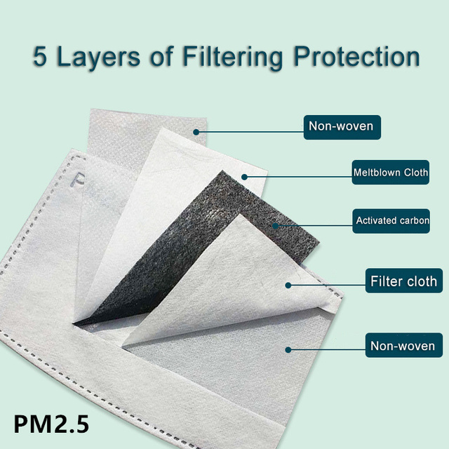 Print Mouth Mask Washable Cotton PM2.5 Filter kids Anti Dust Face Mask Reusable Mouth-muffle Bacteria Proof Flu Children Mask 5