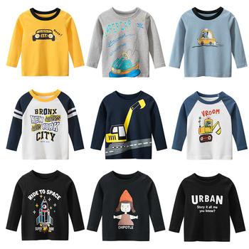 Chłopięce koszule 2020 nowe chłopięce jesienne topy koszulki dziecięce kreskówki Tee dzieci T koszule chłopięce z długim rękawem chłopięce bawełniane koszule tanie i dobre opinie COTTON CN (pochodzenie) Wiosna i jesień 25-36m 4-6y 7-12y Damsko-męskie Na co dzień W stylu rysunkowym REGULAR Z okrągłym kołnierzykiem
