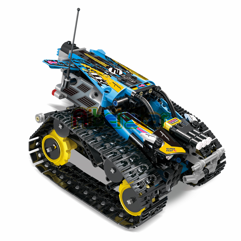 Building blocks Racing Car Technic Remote Control Kids Toys Track Race Car Iphone Android App Programmable Brick MOC 13032 13036 image