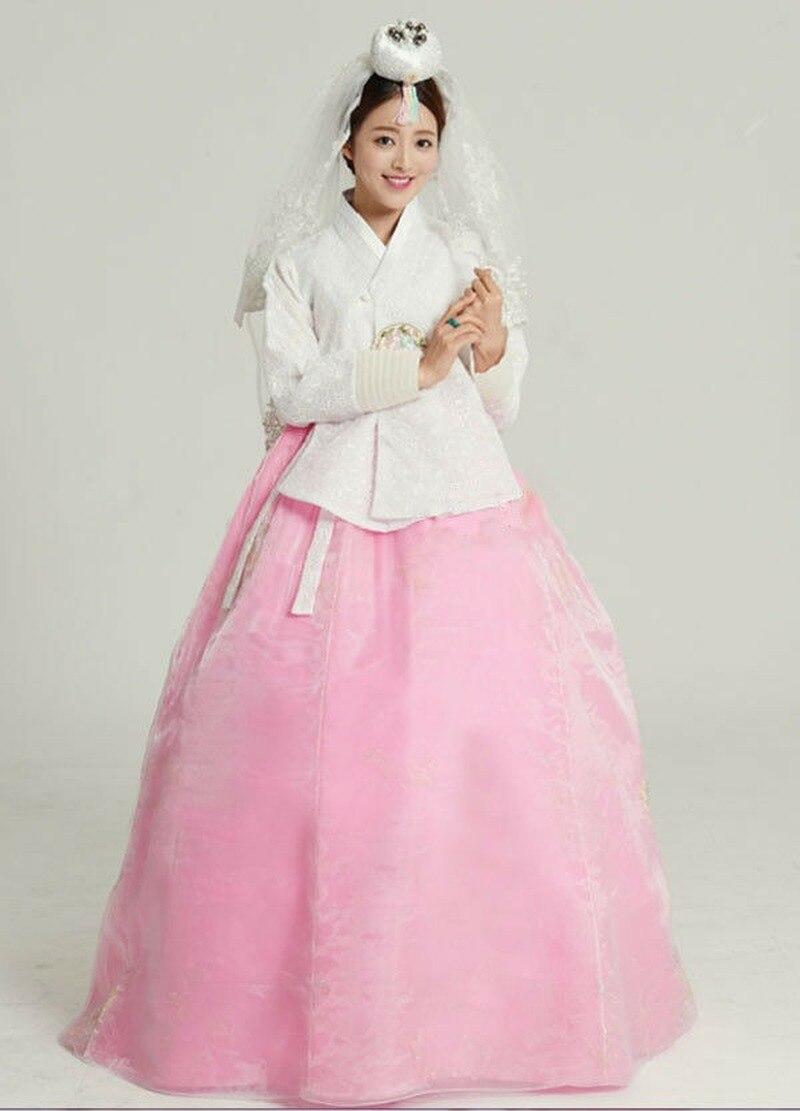 2019 Top Sale Hanbok Dress Traditional Korean Bride Wedding Hanbok DANGUI Korean Royal Costume Hallowen Cosplay Gifts