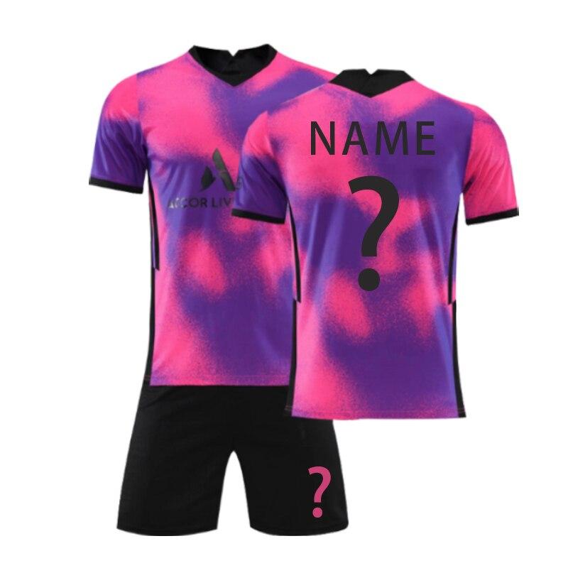 2021 Men's Soccer Sweatshirt Summer Top Two Piece Soccer Suit Breathable Short Sleeve Loose No.7 Team Shirt football jersey