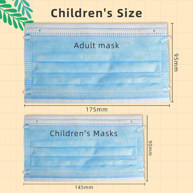 Breathable 3layer Disposable Face Masks For Kids Anti Flu Pollution Dust Soft Breathable Mascarillas Protective Mask Children 4