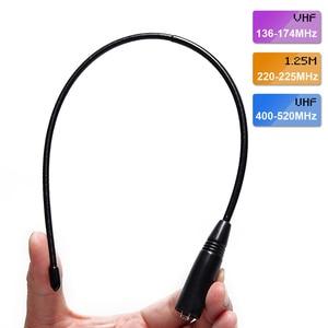 Image 1 - Antena do chicote da tri faixa 144/222/435 mhz para baofeng BF R3 UV 82T UV S9 UV 5R btech UV 82 btech UV 5X3 do btech