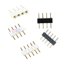 Wholesale 1000pcs needle Male/Female 4 Pin RGB / 5PIN RGBW Connector for RGB /RGBW 5050 3528 LED Strip Light led accessories
