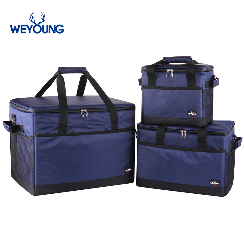 Large Capacity 18L 35L 68L Leakproof Insulated Thermal Food Delivery Cooler Bag Picnic Refrigerator Bag For Car Using