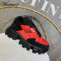 new thick soled old shoes women's mesh color matching breathable platform sneakers womens sneakers shoes 2020 fashion