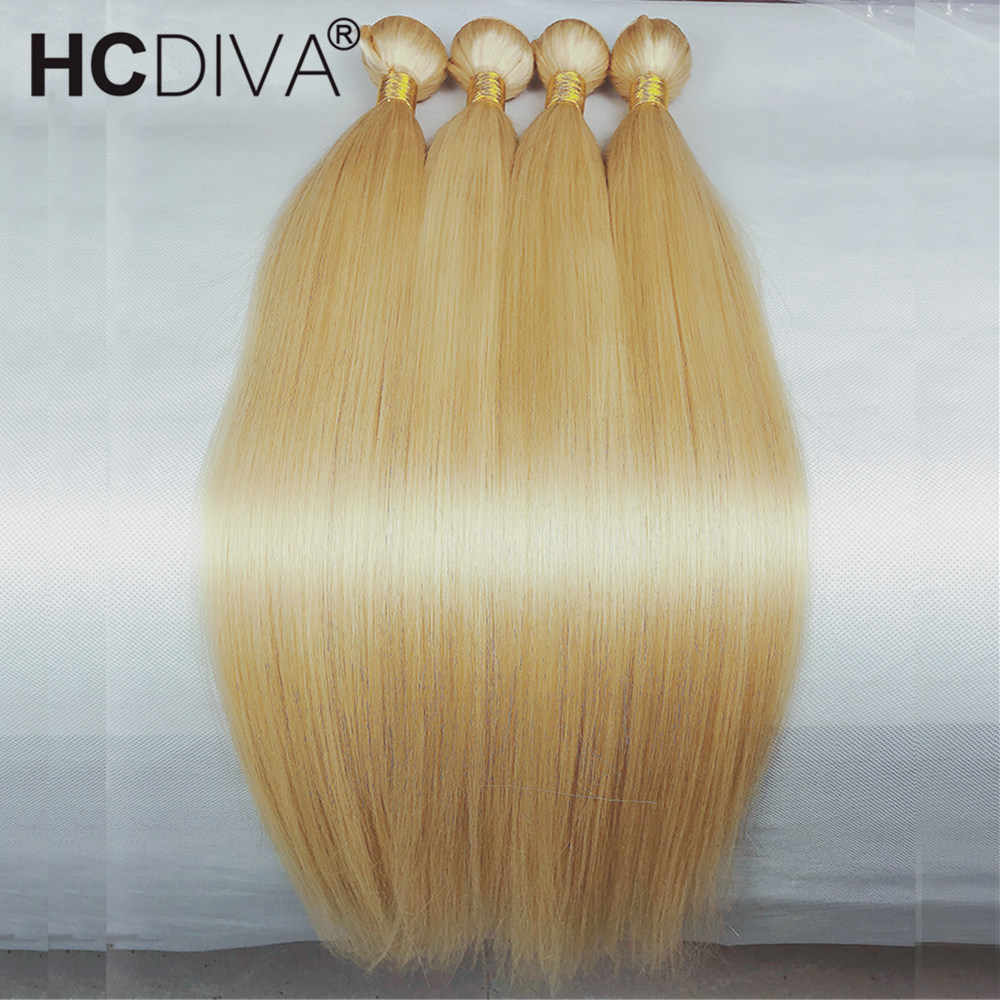 Blond proste włosy ludzkie 613 kolor włosów wyplata wiązki 1 3 4 sztuk włosy brazylijskie remy 613 blond 8 do 30 cali zestawy DIY peruka