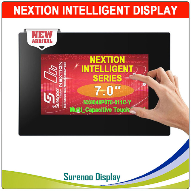 "7.0 ""NX8048P070 Nextion อัจฉริยะ HMI UART Serial TFT LCD แผงแสดงผล Resistive หรือแผงสัมผัสแบบ Capacitive Enclosure"