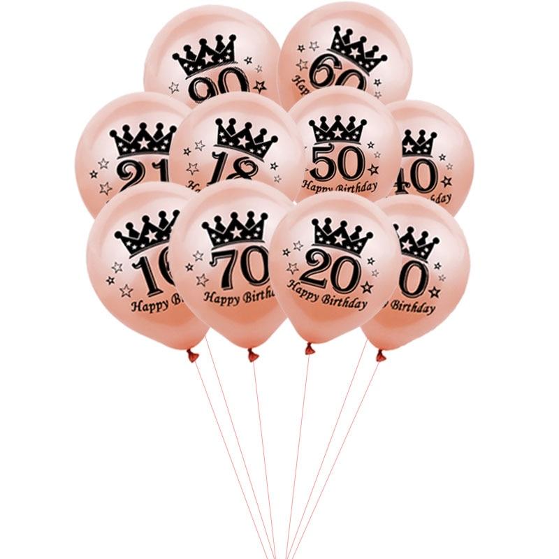 10 шт., латексные воздушные шары из розового золота, 12 дюймов