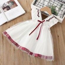 Летнее платье для новорожденных девочек 0 3 лет одежда маленьких