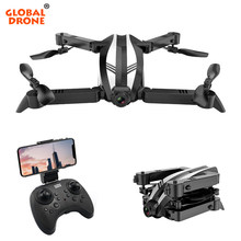 Global Drone SPYDER-X giroscopio RC helicóptero WIFI FPV plegable Quadcopter Selfie Drones con cámara HD Mini Drone X Pro(China)