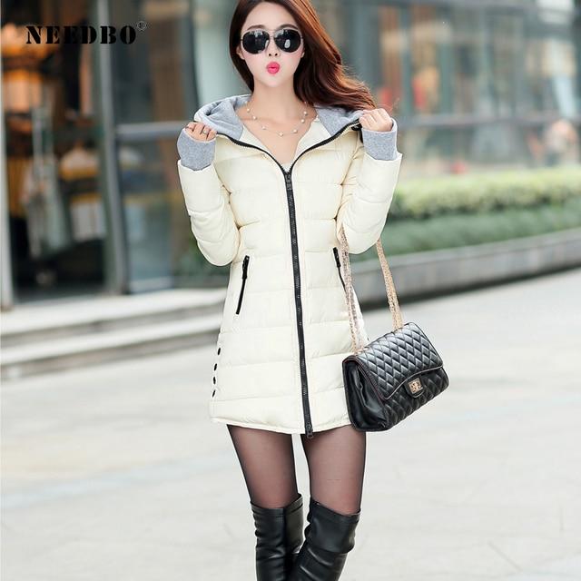 NEEDBO Long Winter Jacket Women Parka Pultra Light Coat Winter Hooded Oversize Winter Autumn Warm Puffer jacket Coat Lady Jacket 4