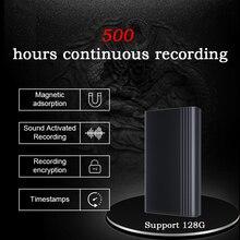 XIXI מרגלים 500 שעות הקלטת קול מקליט דיקטפון עט אודיו קול מיני הופעל דיגיטלי מקצועי מיקרו דיסק און קי