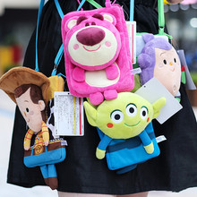 1pc cute  Lotso Plush Backpacks Kawaii Children Bags Strawberry Bear Single Shoulder Bag Cartoon Dolls