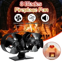 Sanq 8 lâminas fogão ventilador lareira fogo alimentado calor poupança eco amigável lareira ventiladores de madeira log queimador doméstico inverno mais quente|Exaustores| |  -