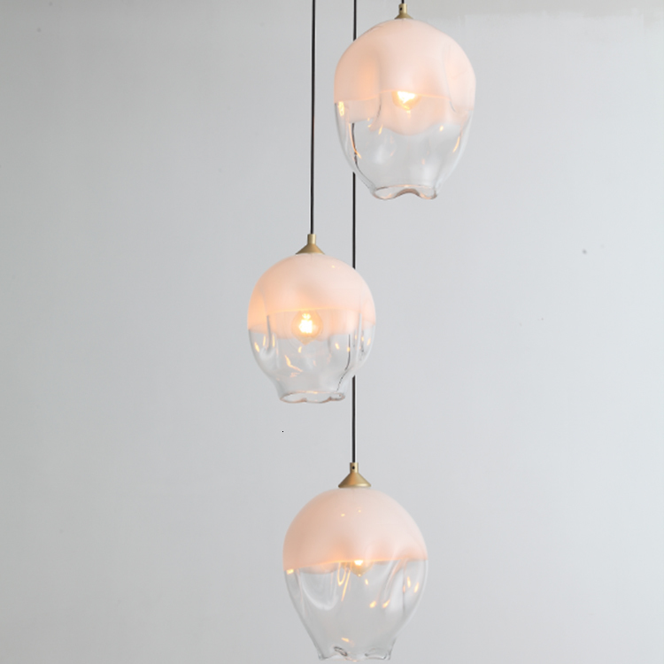 Led Decorative Pendant Light Glass Material Kitchen Room Lamp Restaurant Hanging Light Home Dining Room Light Scandinavian
