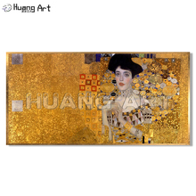 Famous Gustav Klimt Figure Oil Painting on Canvas Hand-Painted High Quality Portrait Art for Room Wall Decor Imitation