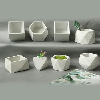 Geometryczne betonowe doniczka formy cement doniczka formy silikonowe soczyste doniczka formy proste formy gipsowe tanie i dobre opinie silicone conceret mold