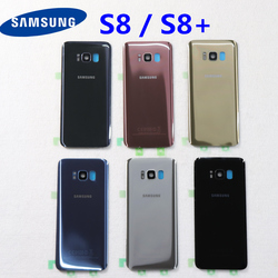 SAMSUNG Back Battery Cover For Samsung Galaxy S8 G950 SM-G950F G950FD S8 Plus S8+ G955 SM-G955F G955FD Back Rear Glass Case