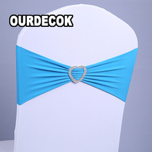 50 PCS/LOT Elastic chair cover chair back flower bow chair wedding decoration supplies love buckle,Wedding Decoration