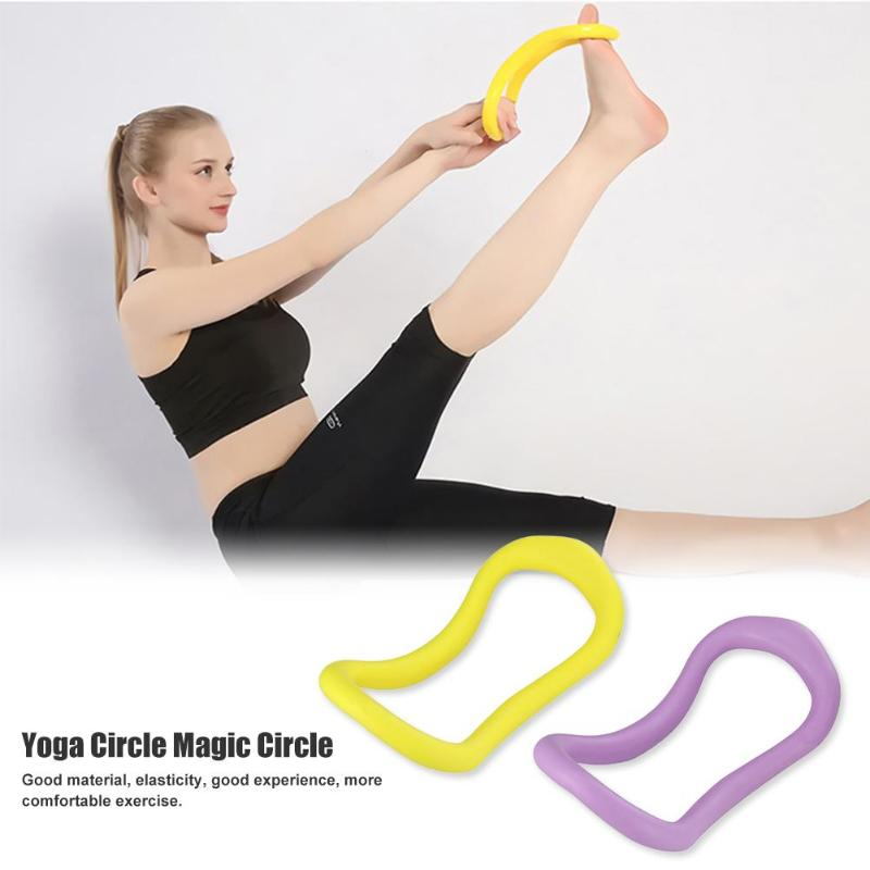 Hot Sale Yoga Circles Delicate Texture Gym Workout Yoga Circle Pilates Women Fitness Sports Fascia Stretching Rings
