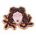 Галактика Medusa блестящая золотая заколка для лацкана космические эстетические украшения