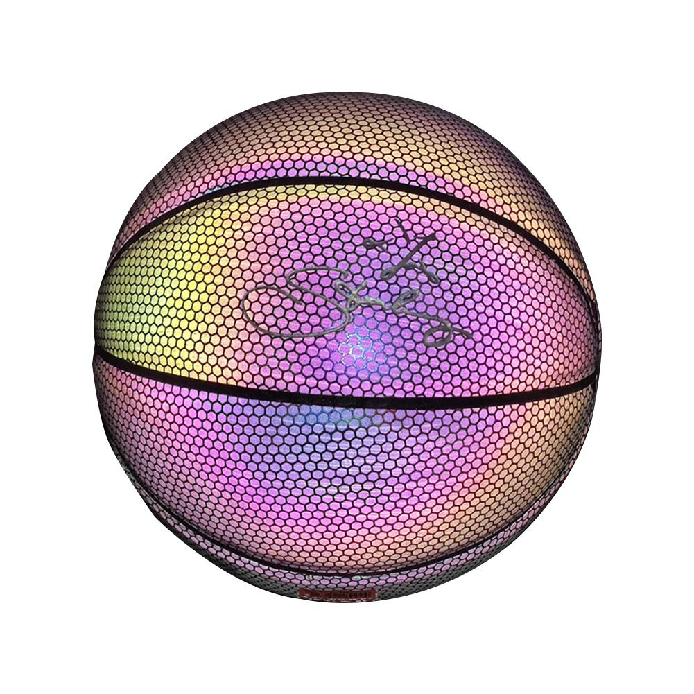 Glowing Basketball Fluorescent Luminous Reflective Rainbow No. 7 Basketball Wear-resistant Glowing Basketball Luminous Basketbal
