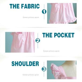 Pink Victorian Lace Apron Pinafore Maid Princess Waterproof Home Kitchen Waiter Cotton Kitchen Accessories