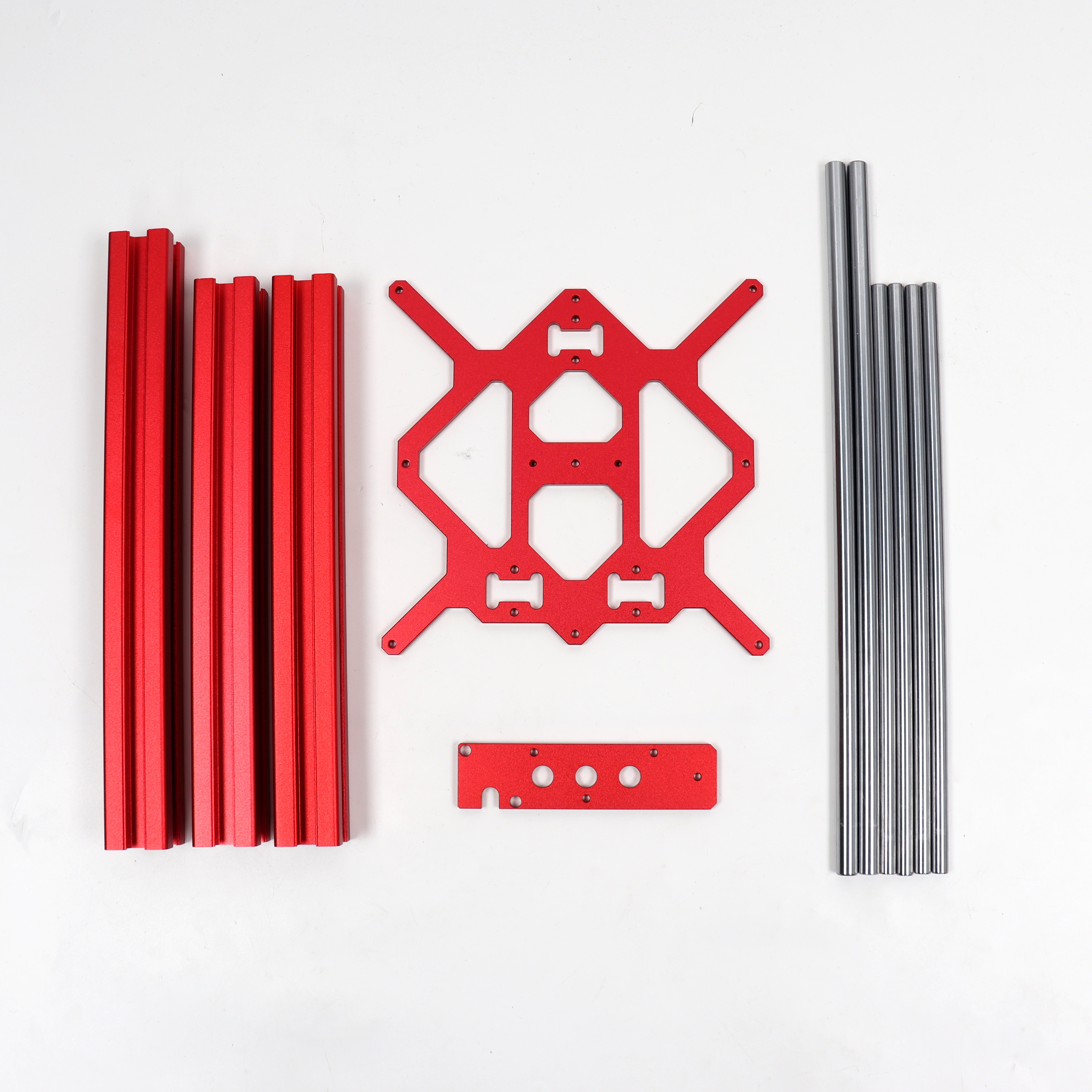 Blurolls Prusa Mini 3d Printer Y Carriage, 3030 Extrusion, Z Bottom Plate And Smooth Rods Kit