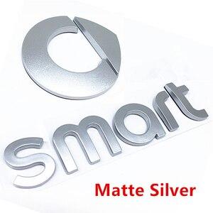 Черный или серебристый ABS 3D Смарт Логотип эмблема наклейка автомобиль укладка маркировки буквы для задний багажник Знак наклейки слов авто аксессуары|Эмблемы|   | АлиЭкспресс