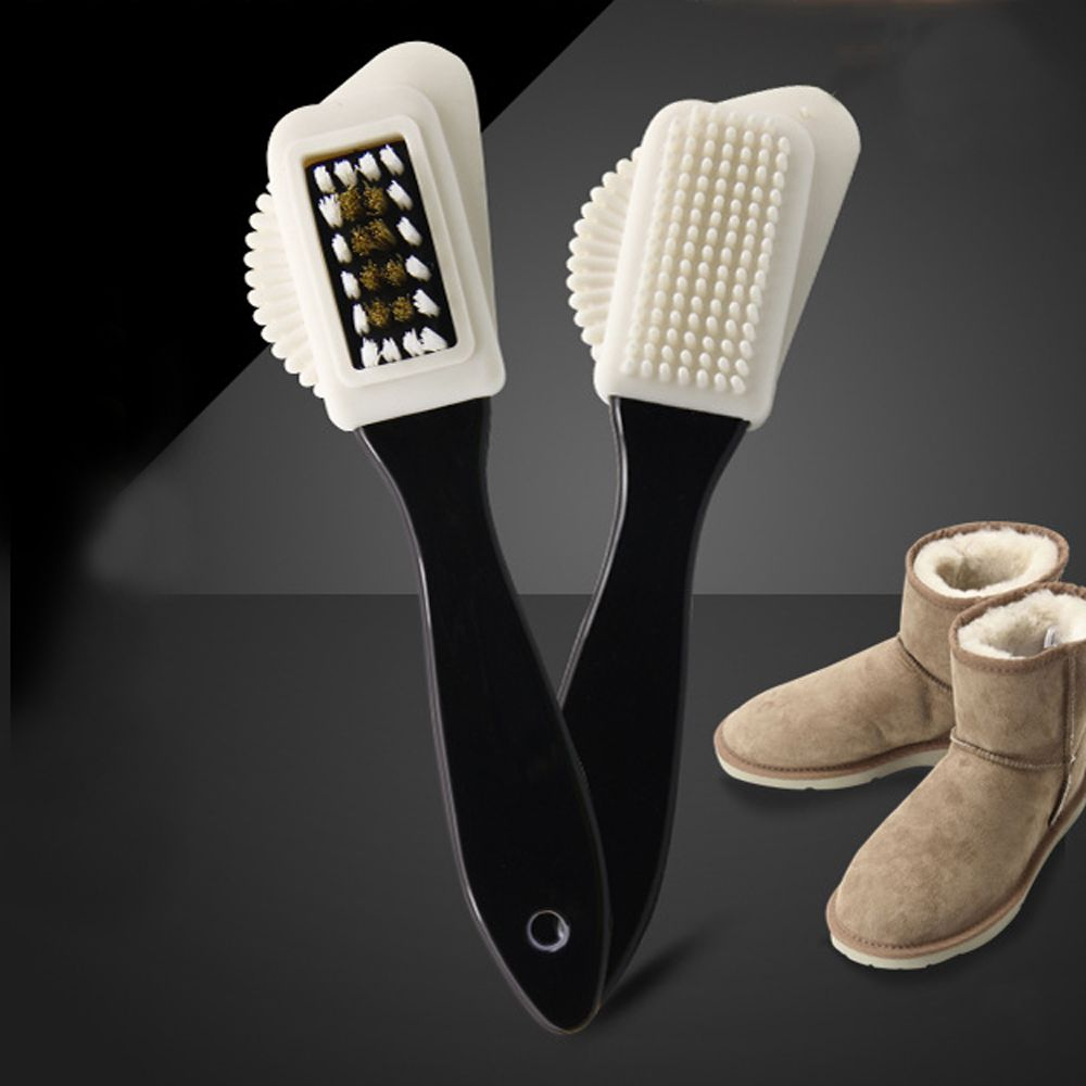 Multifunction Shoe Brush Plastic Suede Scrubber Boot Eraser Shoes Cleaner Rubber