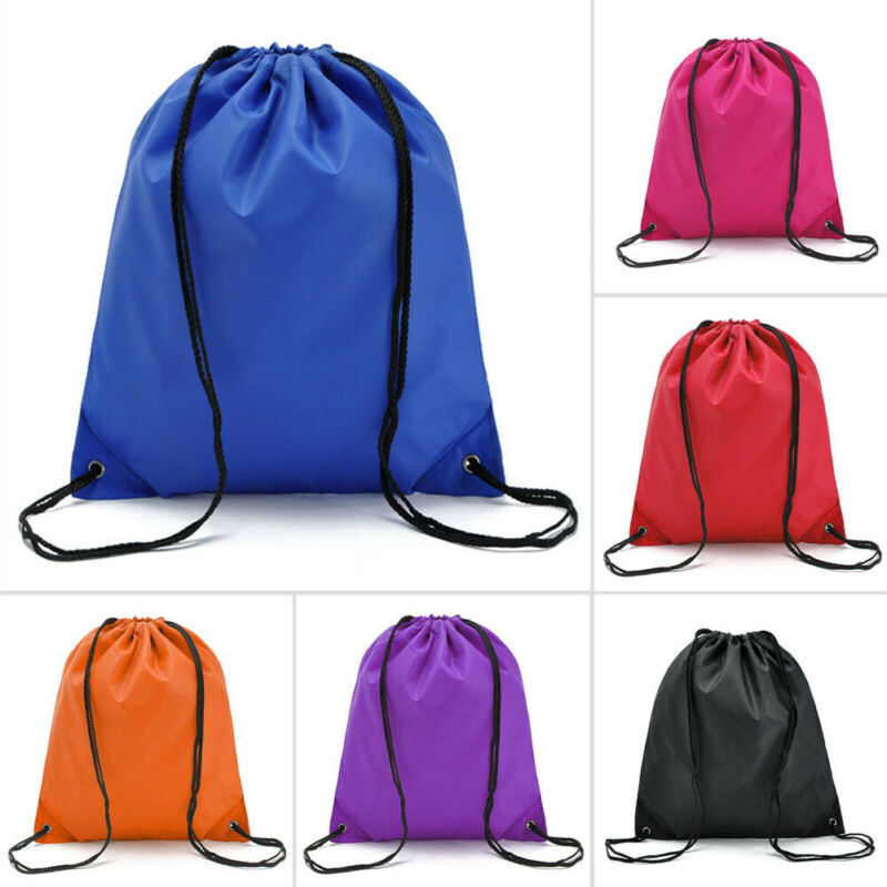 Solid Drawstring Storage Bag Large String Drawstring Backpack Cinch Sack Gym Bag Tote School Sport Yoga Pack Drawstring Bags