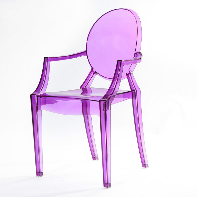 M8 Children's Devil Chair Kindergarten Creative Stool Photography Props Transparent Plastic Dining Chair Children's Room Chair