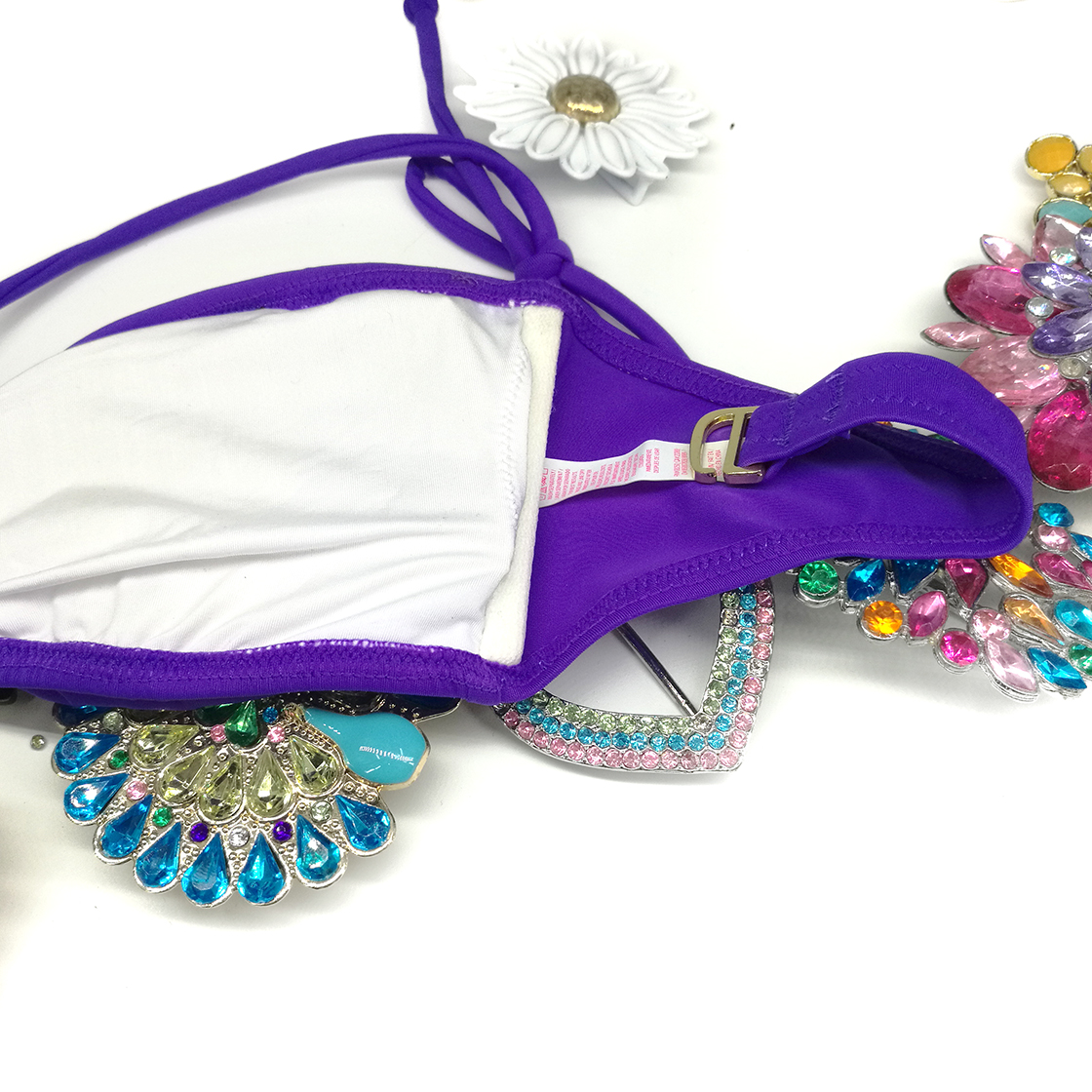 Mixer Bikini TOPS for Women Swimwear Top Original Design For Secret Diamond Purple Bathing suits Sexy swimming biquini UP 1