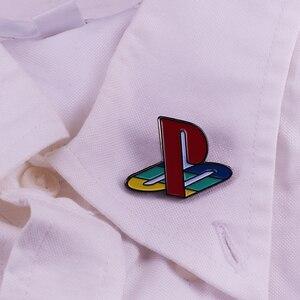 Playstation game отворот булавка яркая одежда рюкзак иконы украшение отличный маленький подарок для парня